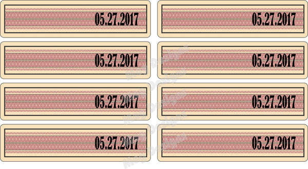 Groomsman Labels - Top Date Seal Labels Only