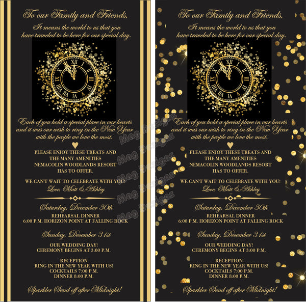 Wedding Itinerary - Wedding Timeline Cards - Custom Wedding Programs - Itinerary Cards - Timeline Cards - Wedding Schedules