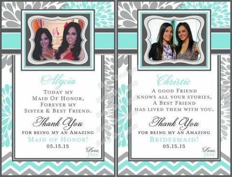 Bridesmaid Wine Labels - Custom Maid of Honor Labels - I Do Artsy Weddings