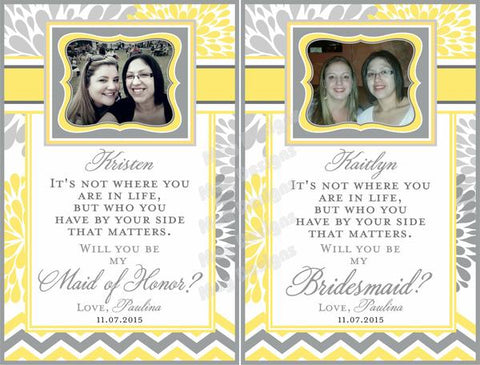 Bridesmaid Wine Labels - Custom Labels for Wine Bottles
