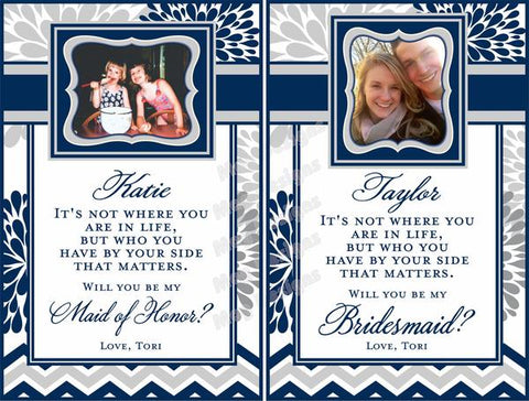 Bridesmaid Wine Labels - Custom Maid of Honor Labels for Wine Bottles - Wedding Party Gifts - I Do Artsy Weddings