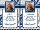 Bridesmaid Wine Labels - Custom Maid of Honor Labels for Wine Bottles - Wedding Party Gifts