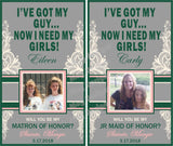 Will you be my Bridesmaid Photo Labels
