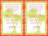 Tropical Palm Tree Wine Labels - I Do Artsy Weddings