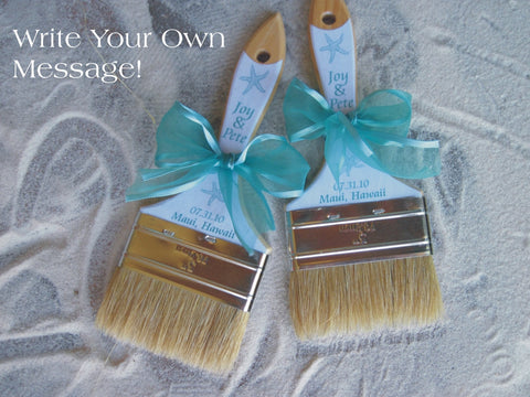 Beach Wedding Sand Brush - Customized
