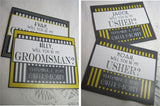 Grooms Beer Labels - Personalized Bridesmaid and Groomsman Beer Bottle Labels - Will you Be My Groomsman Best Man - 6 Labels