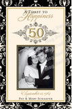 Wedding Anniversary Label Set - 50th Wedding Anniversary Bottle Labels - Customized to any Anniversary - 2 Photo Labels