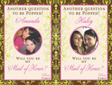 Customized Bridesmaid Photo Wine Labels