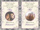 Personalized Bridesmaid Wine Labels