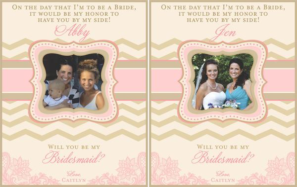 Bridesmaid Mini Wine Labels - I Do Artsy Weddings