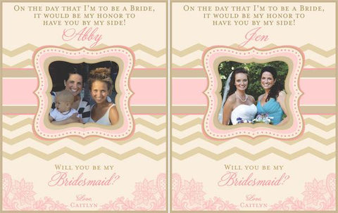 Bridesmaid Mini Wine Labels