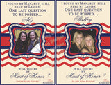 Bridesmaid Wine Labels - Maid of Honor Labels for Wine Bottles - Wedding Party Gifts - Chevron Collection - Navy and Red - Customized