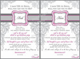 Lace Bridesmaid Wine Labels - I Do Artsy Weddings