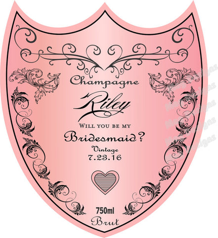 Personalized Wedding Champagne Labels