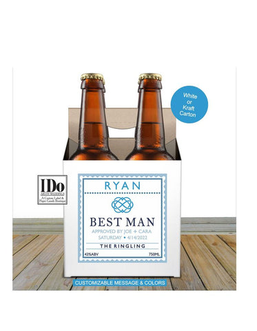 GROOMSMEN 4 PACK BEER CARTON