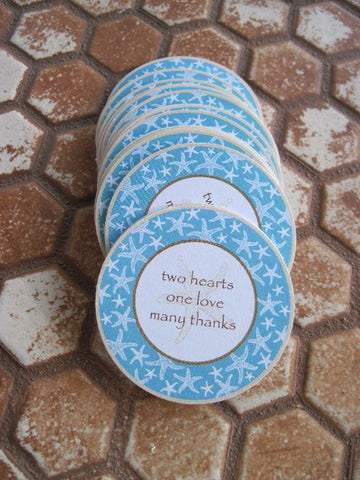 Personalized Favor Stickers for Beach Wedding