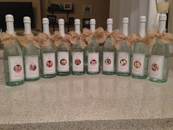 Custom Starfish  Mini Wine Label - I Do Artsy Weddings