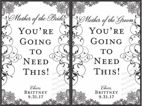 Mother of the Bride or Mother of the Groom Labels