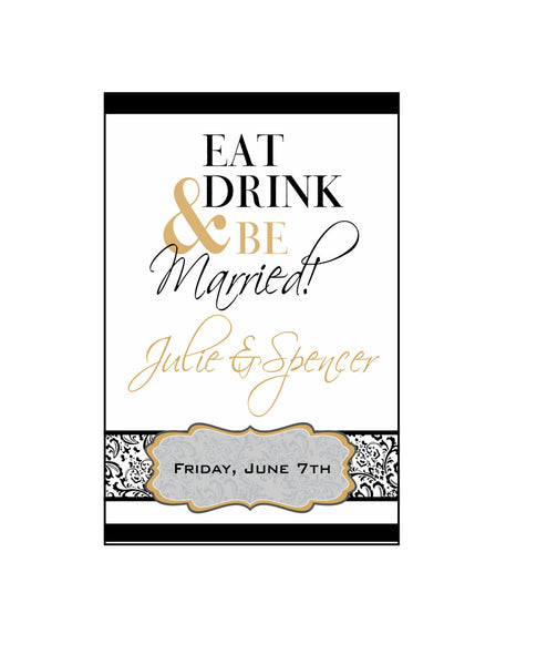 Rehearsal Dinner Wine Labels - Eat, Drink & Be Married