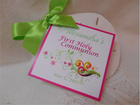 First Holy Communion or Baptism Tags
