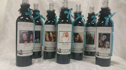 Cowboy Boots Wine Labels - I Do Artsy Weddings