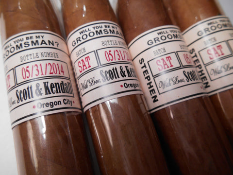 Groomsman Proposal Cigar Bands -Wedding Party Cigar Labels - Reception Cigar Bar - 16 Bands