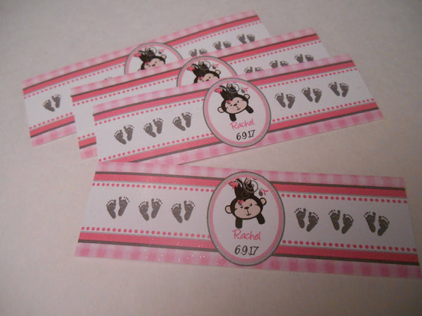 Chocolate Cigar Wraps - Custom Cigar Bands - Baby Shower Favor Labels - 16 Bands