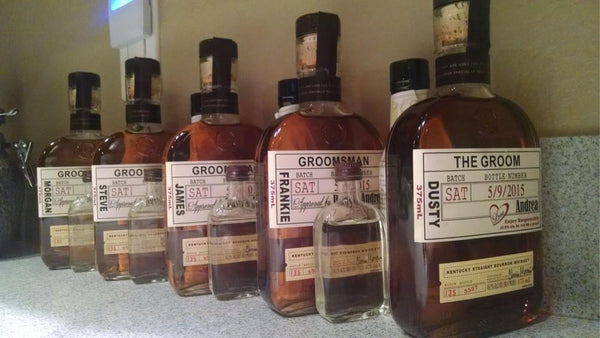 Groomsman Proposal Liquor Labels