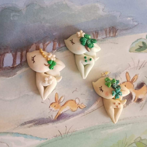 Spring Forest Deers Enchanted Pre Order Bow Clays