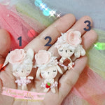 Bubble Dancing Clay Embellishments - Choice of 3 Easter Bunnies