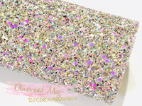 Silver Candy Bomb Chunky Glitter Fabric Sheet