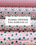 Floral Vintage Pink Set Faux Leatherette Collection from Franchi-a-Pipo London