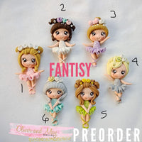 Ballerina Bow Clays  - Fantasy Clay Maker Collection - In Stock Now