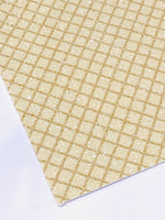 Custom Waffle Print Chunky Glitter Canvas Fabric Sheet