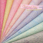 Pastel Floral Glitter Lace Fabric A4 Sheets