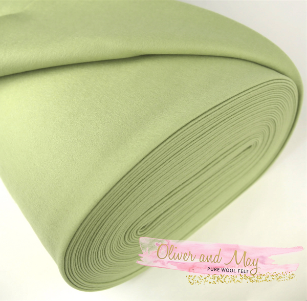 Avocado Merino Pure Wool Felt 1mm A4 Sheet - No. 48