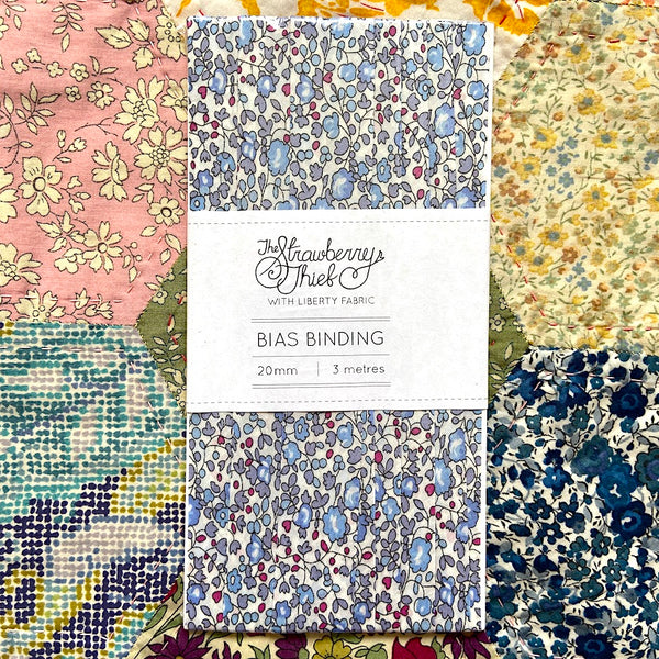 Eloise D Liberty of London Bias Binding -20mm - 100% cotton Liberty Tana Lawn - 3m 3.28 Yards