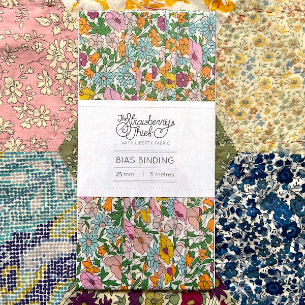 Poppy Forest A Liberty of London Bias Binding -20mm - 100% cotton Liberty Tana Lawn - 3m 3.28 Yards