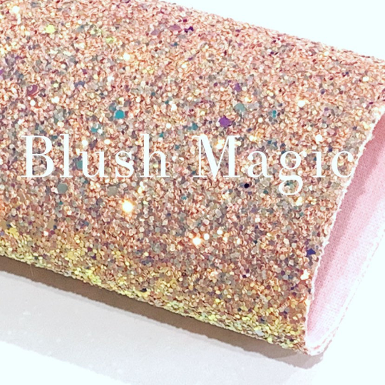 Blush Magic Glitter Fabric Chunky