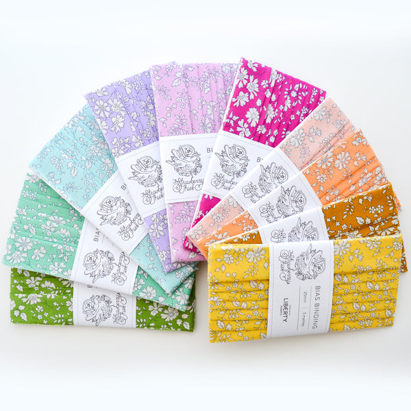 Capel Liberty of London Bias Binding -25mm - 100% cotton Liberty Tana Lawn - 3m 3.28 Yards - 10 COLOURS