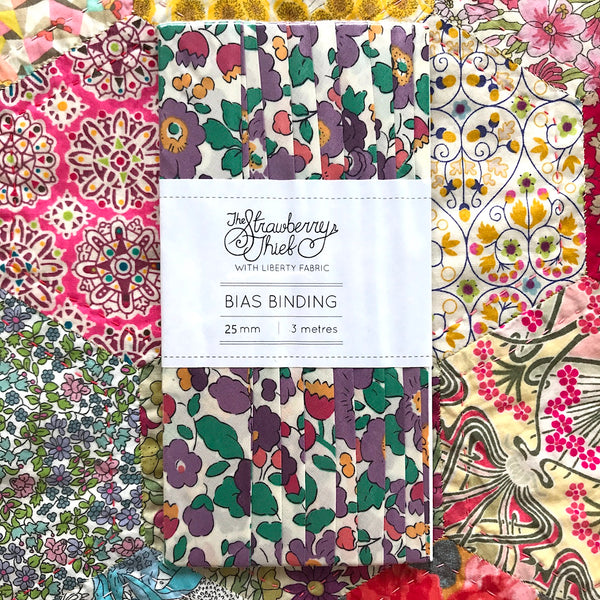 Betsy E Liberty of London Bias Binding -25mm - 100% cotton Liberty Tana Lawn - 3m 3.28 Yards