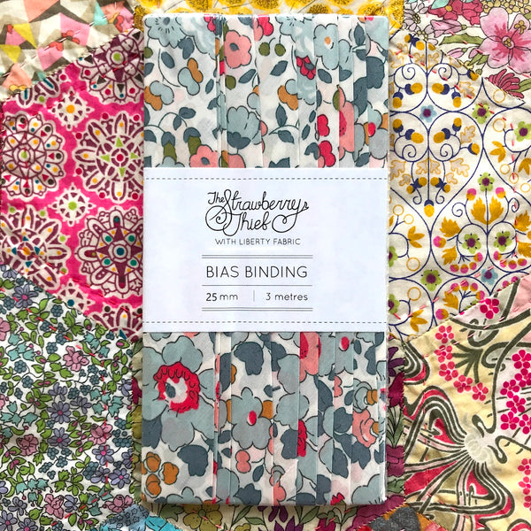 Betsy P Liberty of London Bias Binding -25mm - 100% cotton Liberty Tana Lawn - 3m 3.28 Yards