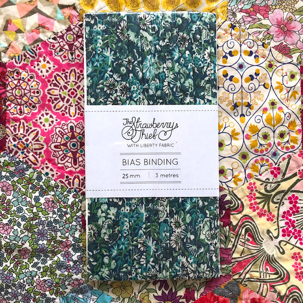 Chive B Liberty of London Bias Binding -20mm - 100% cotton Liberty Tana Lawn - 3m 3.28 Yards