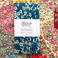 Mitsi 19A Liberty of London Bias Binding -25mm - 100% cotton Liberty Tana Lawn - 3m 3.28 Yards