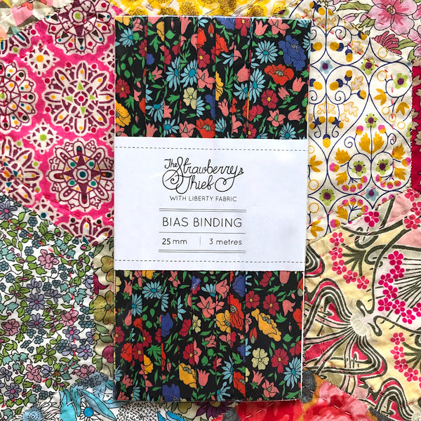 Poppy Park Y Liberty of London Bias Binding -20mm - 100% cotton Liberty Tana Lawn - 3m 3.28 Yards