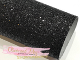 Black Glitter Fabric Sheet 0.9mm Thick A4 or A5 Sheets Black Chunky Glitter Fabric