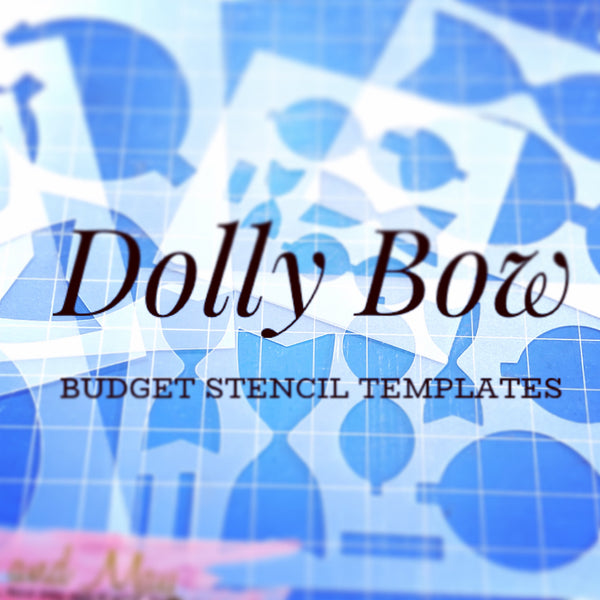 Dolly Bow Stencils - Trace and Cut - Super Saver Bow Templates - SALE