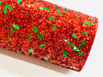 Red and Green Christmas Tree Chunky Glitters