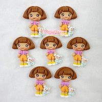 Explorer Girl Clay Embellishments