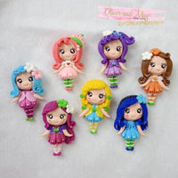 Strawberry Shortcake and Friends Bow Clay Embellishments